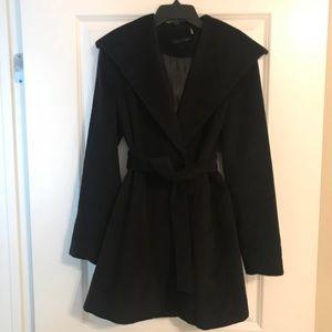 Calvin Klein Black Wool Peacoat Long Jacket 6